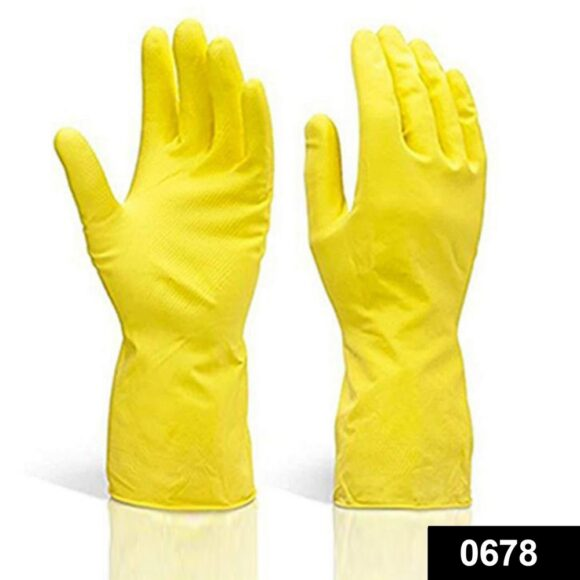 0678 Multipurpose Rubber Reusable Cleaning Gloves 1