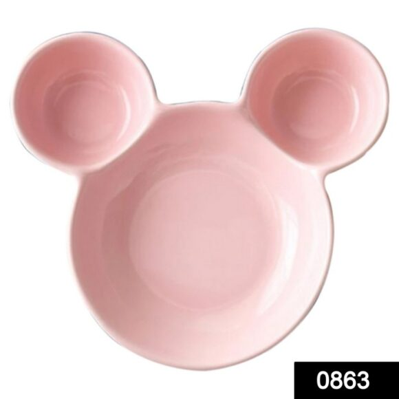 0863 Unbreakable Plastic Mickey Shaped Kids_Snack Serving Plate 1