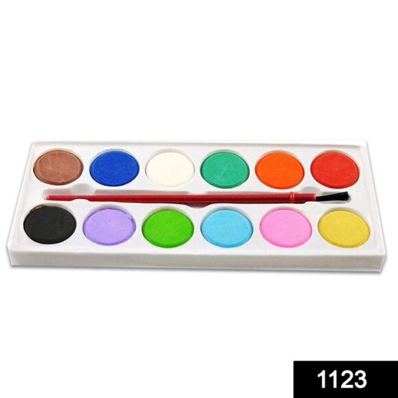 Painting Water Color Kit – 12 Shades and Paint Brush
