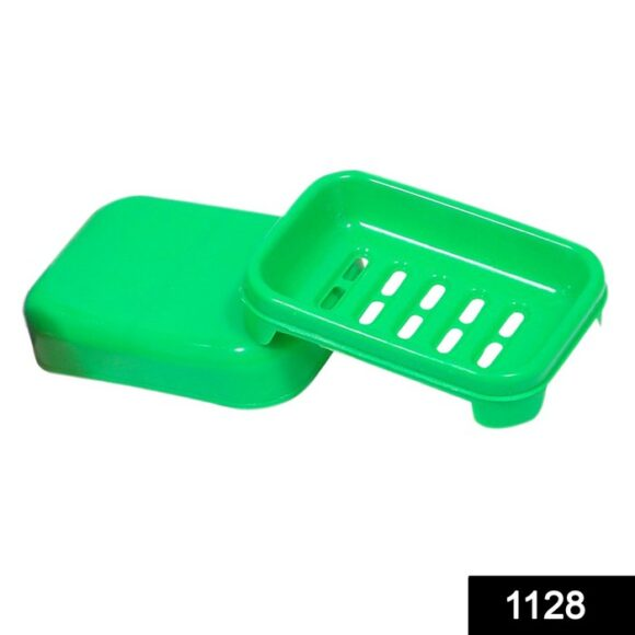 1128 Covered Soap keeping Plastic Case for Bathroom use 1