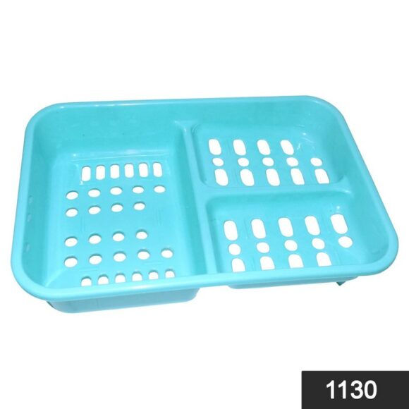 1130 3 in 1 Soap keeping Plastic Case for Bathroom use 1