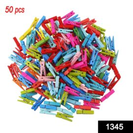 Multipurpose Wooden Clips /Cloth Pegs (Small, 50 Pcs)