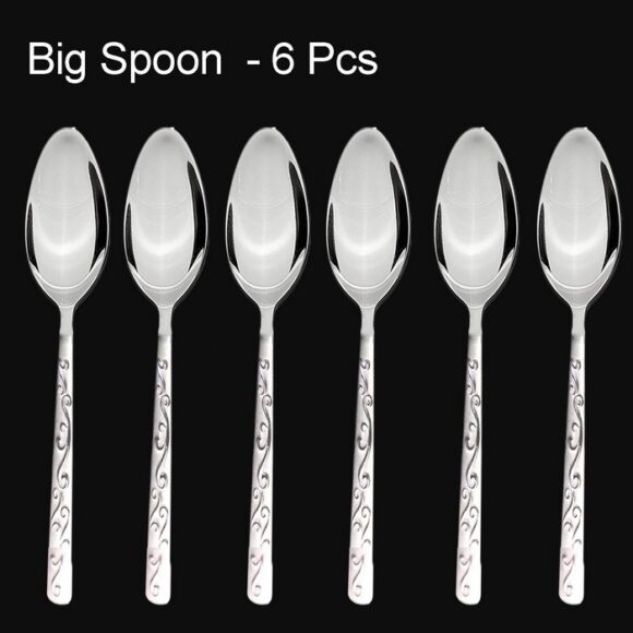 Stainless Steel Stylish Cutlery Set with Spoons, Forks, Butter Knives for St
